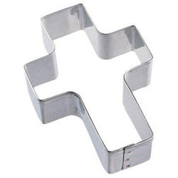 Bulk Buy: Wilton (12-Pack) Metal Cookie Cutter 3in. Cross ()