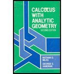 Calculus with Analytic Geometry, Niles, Nathan O. and Haborak, George E., 0131120115