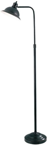 - Lite Source LS-8550AGED/CP Minuteman Floor Lamp with Aged Copper Metal Shade, Aged Copper