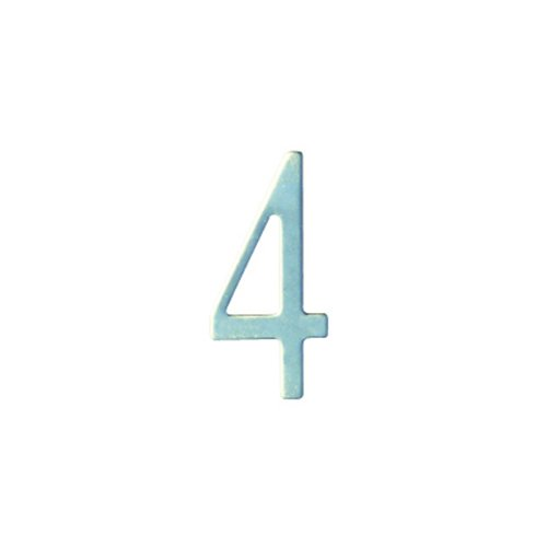 Special Lite Products SS3-Number 4 Stainless Steel Self Adhesive Address Number 4 4, 3''