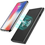 Wireless Charger Power Bank, Tech Care 10000mAh 3 in 1 Fast Charging Power Bank Qi Wireless Battery Pack Portable Charger for iPhone X/8/8 Plus, Samsung Galaxy S6/7/8 Note 7/8 and More