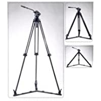 Acebil J-805GX 1-Stage Aluminum Video Tripod with Ground Spreader and #805, 75mm Ball Leveling Head, 59 Maximum Height, Holds Up to 8.8lbs
