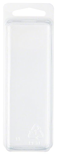 "Clear Plastic Clamshell Package / Storage Container, 4.19"" H"