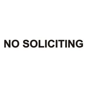 No Soliciting vinyl decal sticker, Black by Ikon Sign & Design (Image #1)