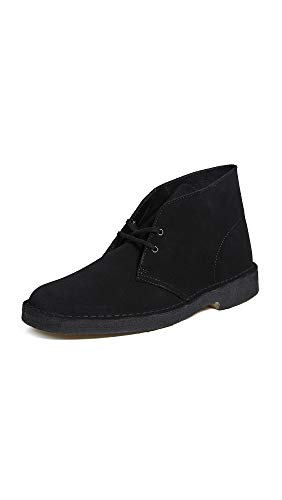 Suede Desert Boots - Clarks Originals Men's Desert Boot, Black Suede, 7 M