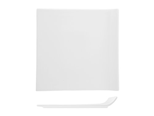 (H&H Table Hotelware Quadra Wing Plate, 20, Porcelain, White, 20x 20x 3cm)
