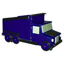 Just Kids Stuff Dump Truck Toy Box BLUE by Just For Kids