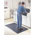 Wearwell Smooth With Snap Back 1/2'' (Approx) 5 x 3' Electrically Conductive Anti-Fatigue Mat by Wearwell