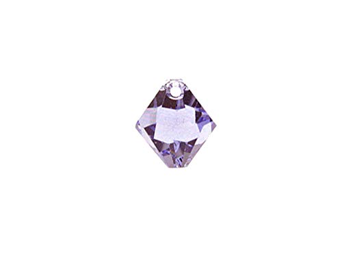 Swarovski Crystal, 6328 Top Drilled Bicone Beads 8mm, Provence Lavender, Wholesale Packs | Pack of 18 ()