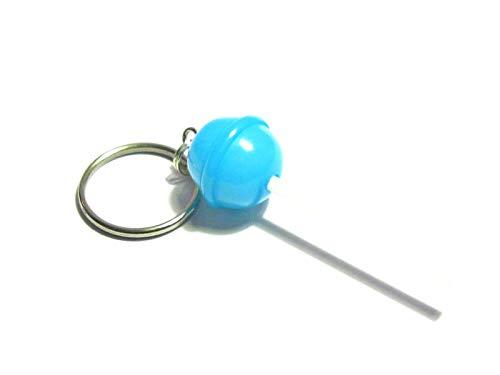 Blue Raspberry Lollipop Keychain - Tiny Food Jewelry