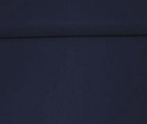 Erstklassiger Baumwollstoff, Uni, Kleider-, Dekostoff, 100% Baumwolle, Meterware, Breite 160cm - dunkelblau