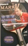 Yasaka MARK V Carbon Racket, Flared Handle (Champion Line) for Table (Yasaka Table Tennis Rubber)