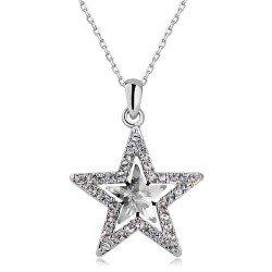 Amazon star shape crystal pendant necklace fashion jewelry jewelry star shape crystal pendant necklace fashion jewelry mozeypictures Choice Image