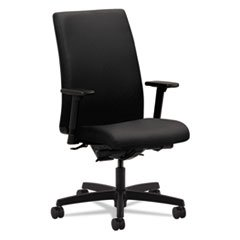 HON Ignition Series Mid-Back Work Chair - Upholstered Computer Chair for Office Desk, Black (HIWM3)