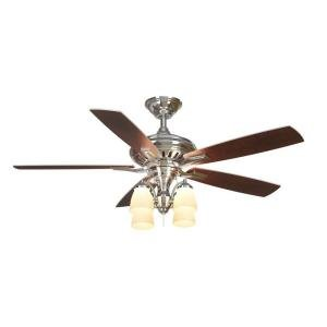 Bristol Lane 52 inch Polished Nickel Ceiling Fan with Light Kit Bristol Bay 1 Light