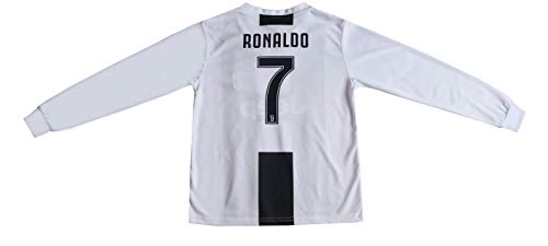 cd9c70935 GamesDur 2018/2019 Cristiano Ronaldo #7 Home Long Sleeve Juventus Soccer  Kids Jersey &