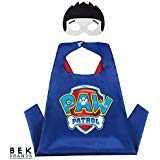 Kids Dress Up Cape and Mask Costume for Superhero Party Favors, Halloween, and More (Ryder with -