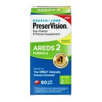 Bausch + Lomb Preser Vision Eye Vitamin & Mineral Supplement Areds 2 Formula - 90 - Lomb Eye Bausch Vitamins