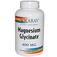 Magnésium Solaray glycinate 400 mg - 120 capules Veg
