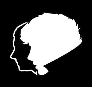 [Sherlock and Watson Silhouette Decal Vinyl Sticker|Cars Trucks Vans Walls Laptop| White |5.5 x 5] (Doctor Watson Costume)