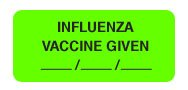 Influenza Vaccines - Briggs HeralthCare Chart Label - Influenza Vaccine Given 250/disp. Box