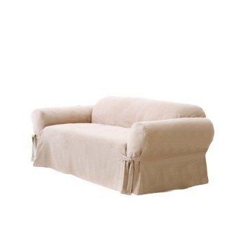 surefit sofa slipcover suede taupe