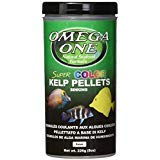 Omega One Super Color Kelp Small Sinking Pellets 8 Ounce (226 Grams) for all Algae Grazers, Freshwater and Saltwater,  Made with Fresh Kelp and Spirulina