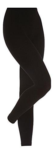 insulated black leggings - 1
