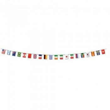 Beistle 57738 Party Supplies International Flag Pennant Banner Multicolor (Flag Banner Country)