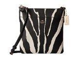 COACH Zebra Embossed Txt N/S Swingpack Light/Black White