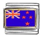 New Zealand Flag Italian Charm Bracelet - New 9mm Charm Italian Photo
