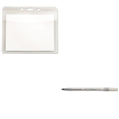 kitavt75603bicgsm11bk – Valueキット – Advantus PVCフリーバッジホルダー( avt75603 )とBic Round SticボールペンStickペン( bicgsm11bk )   B00MORN5B8