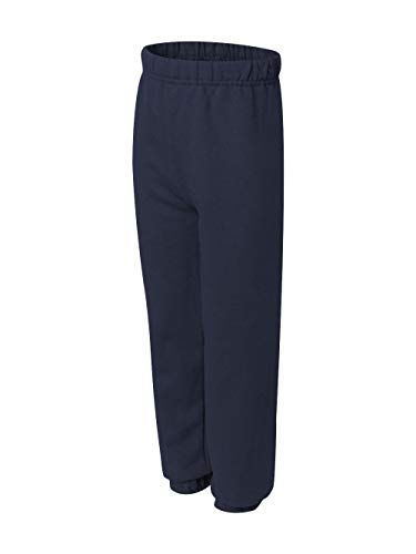 Jerzees boys NuBlend Sweatpants(973B)-J NAVY-M