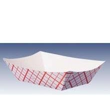 VFT300 / 8763 / RP300 Vintage 3lb Red Plaid Food Tray 500 per case (Food Plaid Paper Tray Red)