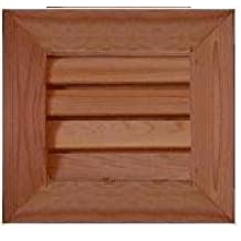 "GC1010 Cedar Wood Gable Vent ~ Louver box 9.5 x 9.5 ~ Overall 13.5"" x 13.5"" ~ Kimball Designs Sanded Smooth Functional Ventilation"