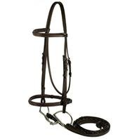 GATSBY LEATHER COMPANY 282480 Fancy Snaffle Bridle Havanna Brown, Horse