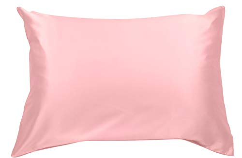 Celestial Silk 100% Pure Mulberry Silk Pillowcase Premium 25 Momme for Hair and Skin, Hypoallergenic Charmeuse Silk Weave on Both Sides (Standard, Pink)