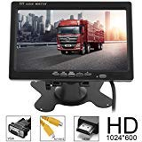 - ePathChina Car Rear View Monitor 2 Video Input DVD VCD Headrest Vehicle Monitor Support Audio Video HDMI VGA 7 Inch 16:9 HD 1024600 TFT LCD Color
