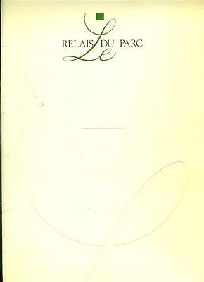Le Relais Du Parc Menu Avenue Raymond Poincare Paris France 1995 - France Signed