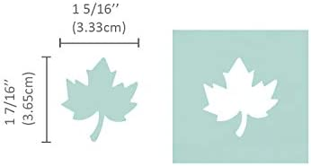 Bira 1.5 inch Maple Leaf Lever Action Craft Punch Halloween Punch,for Paper Crafting Scrapbooking Cards Arts Autumn Punch