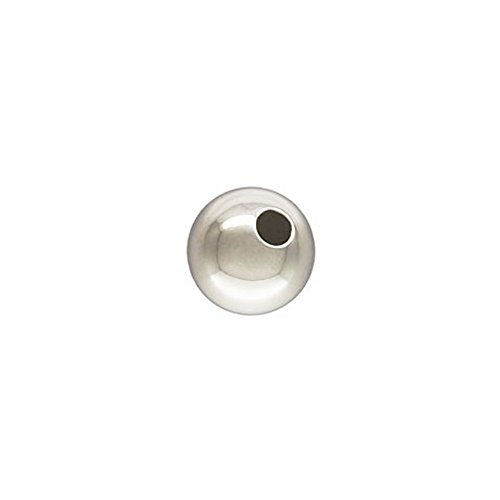 30 Qty. 7mm Round Sterling Silver Bead with 1.8mm hole, .925, by JensFindings