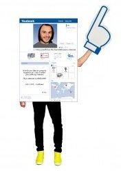 Social Media Apps Halloween Costumes (Morphsuits Men's Morphcostume Co Social King Unisex Digital Costume, White/Blue, One)