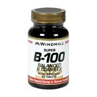 Super B-100 Complex (Windmill Vitamin B-100 Complex Tablets Size: 60)