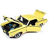 1970 Mercury Cougar Eliminator Competition Yellow with Black Stripes Hemmings Muscle Machines Magazine Limited Edition to 1002 Pieces Worldwide 1/18 Diecast Model Car by Autoworld AMM1155