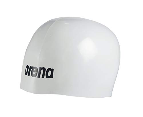 (Arena Moulded PRO USA Swim Cap, White)