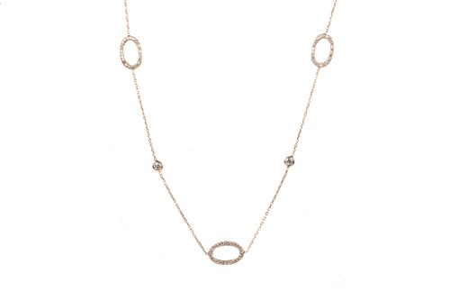 Long Collier Creux ovale or rose