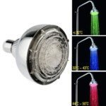 color therapy shower head - LED Shower Head ABS chrome surface temperature controlled color