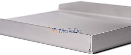 MaTaDa Plaque de cuisson en acier inoxydable massif I Plancha 20 x 15 cm – Taille universelle compatible avec de nombreux barbecues à gaz et à charbon