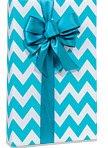blue white chevron stripe gift
