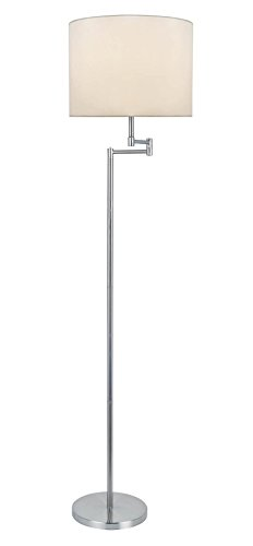 (Lite Source LS-82215PS/WHT Durango Floor Lamp, 21.5
